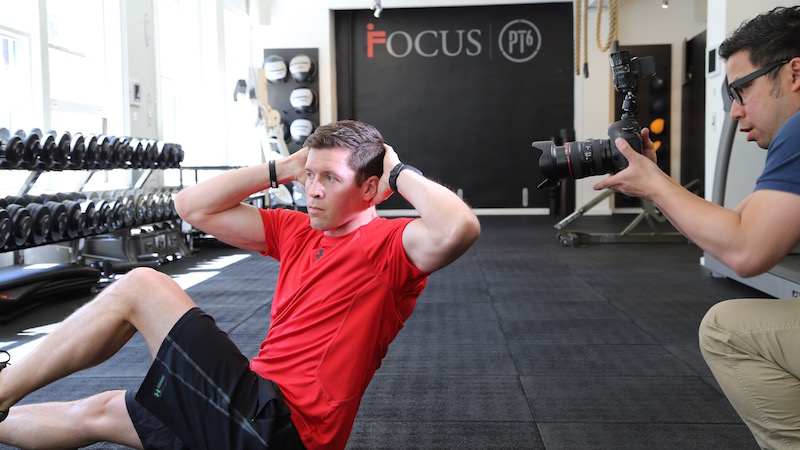 Behind the Scenes of a Men's Fitness Magazine Shoot.